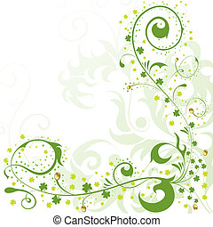 St. Patrick Day border - St. Patrick Day floral frame,...