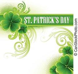 St. Patrick Day poster a - St. Patrick Day poster with a...