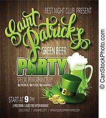 St. Patrick Day poster. Vector illustration EPS10