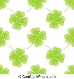 St Patrick day seamless on white background. vector...