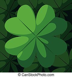 st patrick day with clover decoration