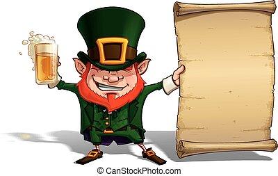St Patrick - Holding a Papyrus