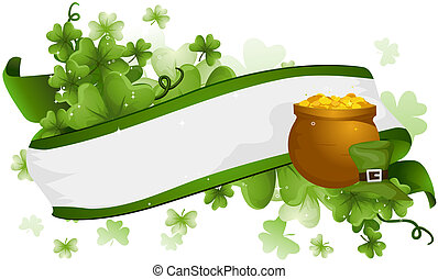 St Patrick Ribbon with Clipping Path