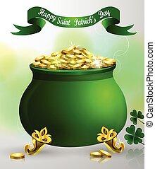 St. Patrick s Day symbol green pot