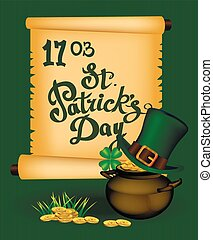 St. Patrick s Day - vector greeting card