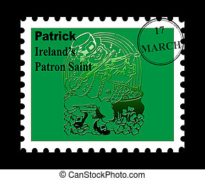 St Patrick stamp