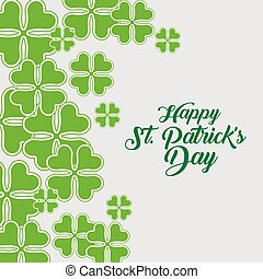 st patrick traditional celebration with clovers