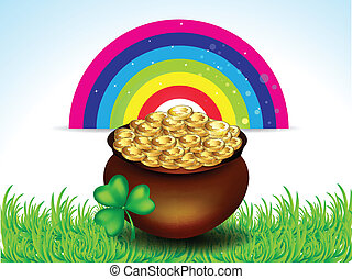 St Patrick's Background With Coin