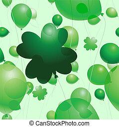 St. Patrick's balloons
