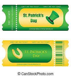 st., patrick's, biglietto, speciale, da
