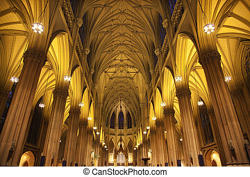 Saint Patrick's Cathedral, Inside, Arches, Stained Glass, New York City, cathedral, religion, building, architecture, church, tourism, travel, christian, stone, catholic, old, stained, glass, arches, pillars, roof, inside, religion, christianity, saint, mother, god, holy, virgin, sacred, church, ...