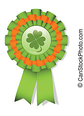 St. Patrick's cockade - St. Patrick's day green cockade with...