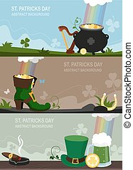 St. Patrick's Day abstract
