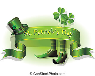 abstract illustration to the day of saint Patrick