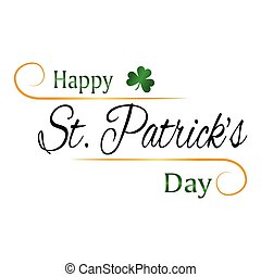 St. Patricks Day - abstract St. Patricks day background with...