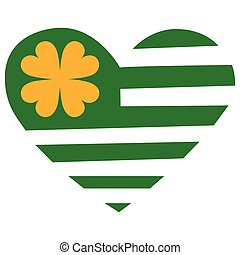 St. Patricks Day - abstract St. Patricks day object on a...