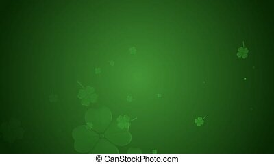 St Patrick's day animation, clover leafs rotating on the...