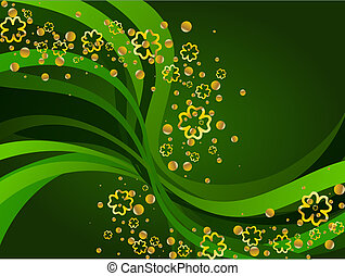 A St Patricks background. Graphics are grouped and in several layers for easy editing. The file can be scaled to any size.