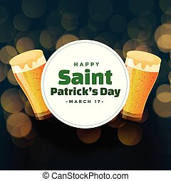 st patricks day background with beer mugs