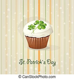 St. Patricks Day background with cake