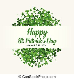 st patricks day background with clover leaves
