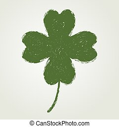 St. Patrick's day background with four leaf clover.