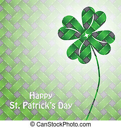 St patrick's day background with green elements