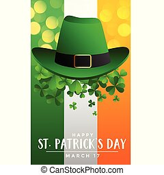 st patricks day background with hat