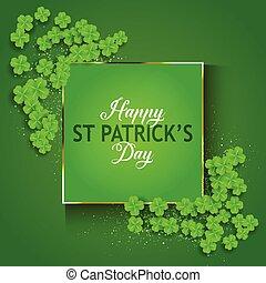 St Patrick's Day background with shamrock