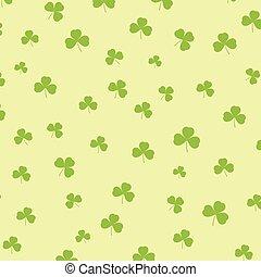 St Patricks day background with shamrock pattern