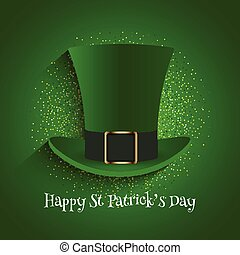 st patricks day background with top hat and glitter 1202
