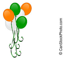 St Patricks day balloons isolated