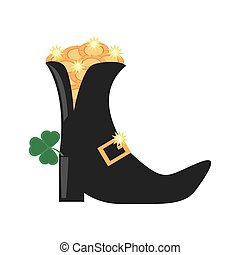 st patricks day boot clover gold coin