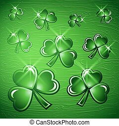St Patricks Day border background.