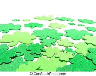 St Patricks Day border - St Patricks Day shamrock confetti...