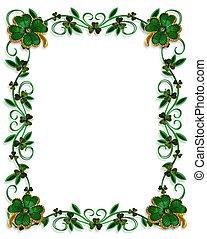 St Patricks Day Border Shamrocks