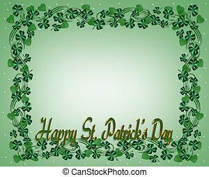 St. Patricks Day Border Shamrocks