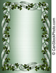 St Patricks Day Border shamrocks - Illustration for St...