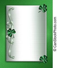 St Patricks Day Border shamrocks - Illustration for St ...