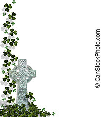 St Patricks Day Card Border - 3D Illustration for St...