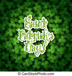 St. Patricks Day Card with Shamrock Background