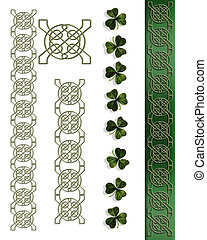 St Patricks Day Celtic Borders - Celtic Knot borders for St...