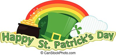 St. Patrick's Day - Happy St. Patrick's Day banner with...