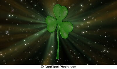 St Patrick's Day clover loop. HD1080p - St Patrick's Day...