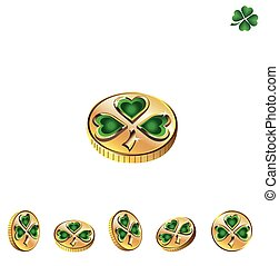 St Patricks Day Coins with green