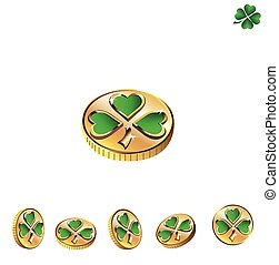 St Patrick's Day Coins with green