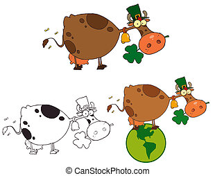 St Patricks Day Cow