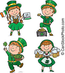 St. Patricks Day cute kids. Contains transparent objects....