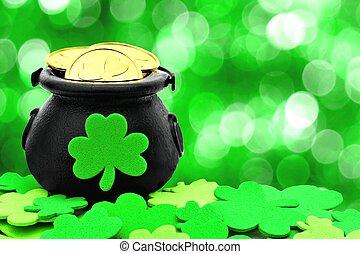 St Patricks Day decor - St Patricks Day Pot of Gold and...