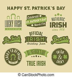 St. Patrick's Day Design Elements C - A set of St. Patrick's...
